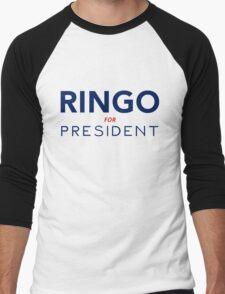 Ringo For President Men's Baseball ¾ T-Shirt