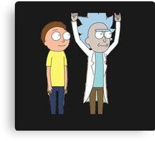 Tiny Rick and Morty Canvas Print