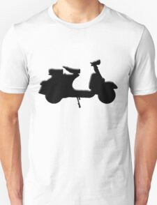 Vespa in black T-Shirt