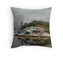 Boats Ashore Peggys Cove Nova Scotia Throw Pillow