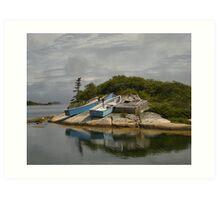 Boats Ashore Peggys Cove Nova Scotia Art Print