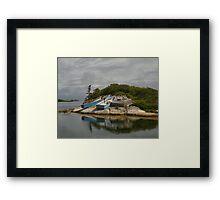 Boats Ashore Peggys Cove Nova Scotia Framed Print