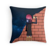 Space Painter Throw Pillow