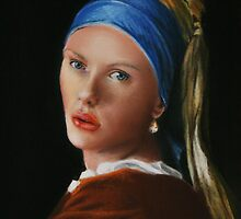 Girl with a pearl earing by Dave Ettridge