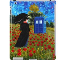 Umbrella girl with space and time traveller box art painting iPad Case/Skin