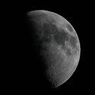 Gibbous moon by iulix