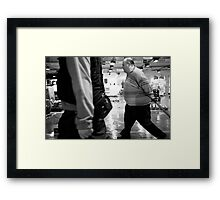 Fish On The Move Framed Print