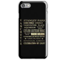Vancouver Canada Famous Landmarks iPhone Case/Skin