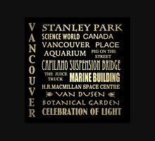 Vancouver Canada Famous Landmarks Unisex T-Shirt