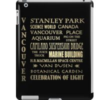 Vancouver Canada Famous Landmarks iPad Case/Skin