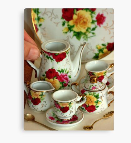 Come for Tea.............. fit for a queen... Canvas Print