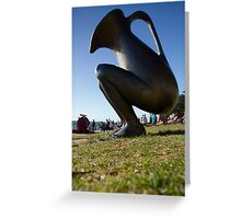 "Standing Ewer - Cottesloe ""Sculptures by the Sea"" Greeting Card"