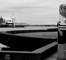 Bollards and Cunningham Pier - Geelong by Deb Gibbons
