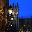 Bath Cathedral at night by bared