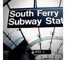 South Ferry Subway Photographic Print
