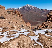 last snow on Teide, las cañadas, Tenerife by Raico Rosenberg