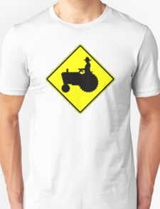 Farm Tractor Crossing sign  T-Shirt