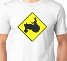 Farm Tractor Crossing sign  Unisex T-Shirt