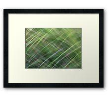 Impressionist Wild Grass Framed Print