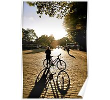 bicycle sunset Poster