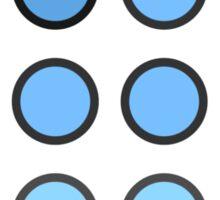 Fade Blue Sticker