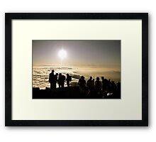 Aug. 4th, 2009 - Birthday Sunrise on Mount Fuji Framed Print