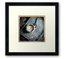 Old Book and Watch Framed Print