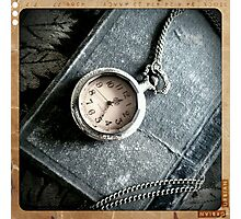 Old Book and Watch Photographic Print