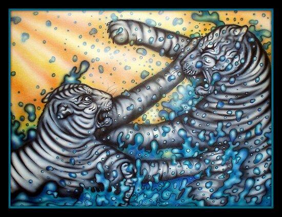 white tigers by josh astuto