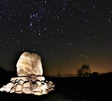 Orion Over Bruces' Stone by derekbeattie