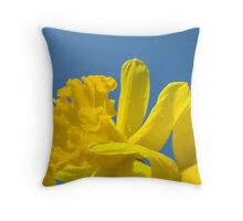 Daffodil Flowers Glowing Spring art prints Baslee Troutman Throw Pillow