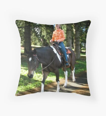 Happy Trails! Throw Pillow