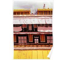Potala Palace Rooftop Windows - Lhasa, Tibet Poster