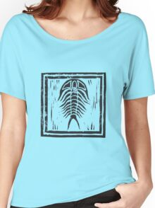 Trilobite with Border Women's Relaxed Fit T-Shirt