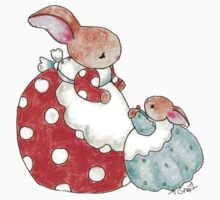 mama and baby bunny by paintpaintdraw