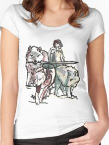 Hunting With The Pack Women's Fitted Scoop T-Shirt