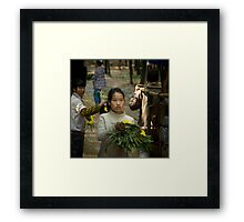 bamboo sea .......... Framed Print