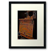 Patented 1894 Framed Print