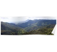 Panoramic view of Black River Gorge ,Mauritius Poster