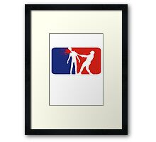 Zombie Down Baseball style Framed Print