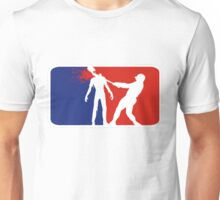 Zombie Down Baseball style Unisex T-Shirt