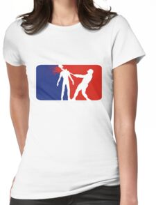 Zombie Down Baseball style Womens Fitted T-Shirt