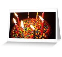 Candy Birthday Cake Greeting Card