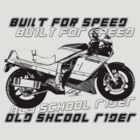 Old school Rider gsx r1100 by personalized