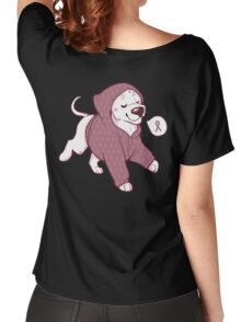Breast Cancer Awareness Dog Women's Relaxed Fit T-Shirt