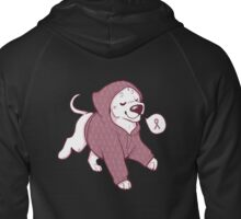 Breast Cancer Awareness Dog Zipped Hoodie