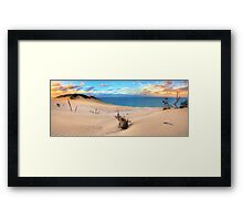 Carlo Sand Blow - Rainbow Beach Framed Print