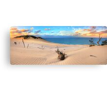 Carlo Sand Blow - Rainbow Beach Canvas Print