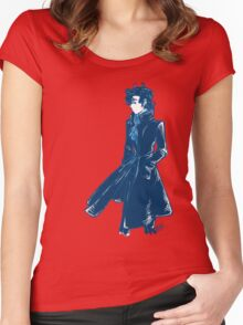 Sherlock Holmes - Blue - No Text Women's Fitted Scoop T-Shirt