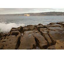Split Rocks at Dusk - Casa Beach, CA Photographic Print